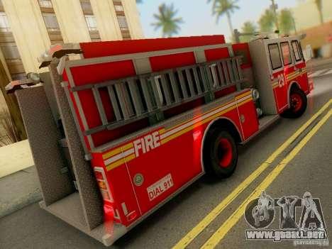 E-One FDNY Ladder 291 para la visión correcta GTA San Andreas