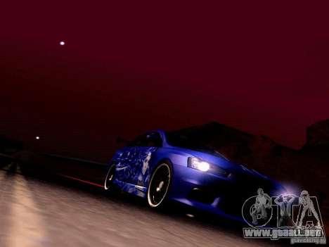 Mitsubishi Lancer EVO X Juiced2 HIN para la vista superior GTA San Andreas