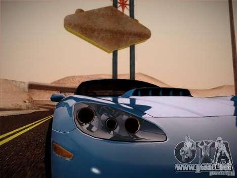 Chevrolet Corvette C6 para GTA San Andreas vista hacia atrás