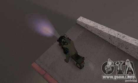 Luz púrpura para GTA San Andreas tercera pantalla