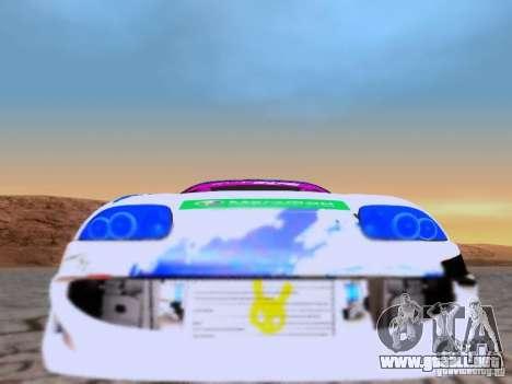 Toyota Supra para GTA San Andreas vista hacia atrás