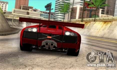 Lamborghini Murcielago R-SV GT1 para GTA San Andreas vista posterior izquierda
