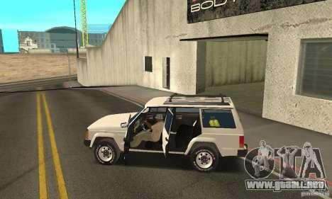 Jeep Grand Cherokee 1986 para el motor de GTA San Andreas