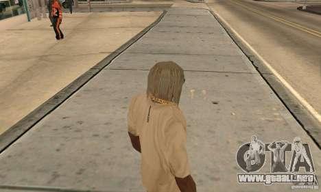 Cabello largo y rubio para GTA San Andreas segunda pantalla