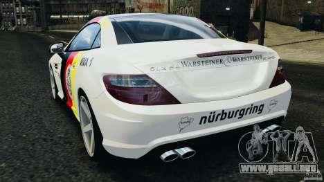 Mercedes-Benz SLK 2012 v1.0 [RIV] para GTA 4 Vista posterior izquierda