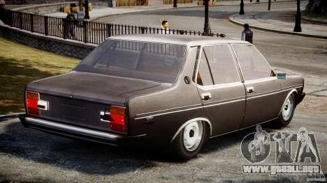 Fiat 131 Mirafiori 1974 para GTA 4 Vista posterior izquierda