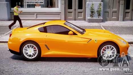 Ferrari 599 GTB Fiorano para GTA 4 vista desde abajo
