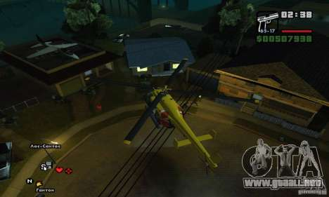 Helitours Maverick de GTA 4 para visión interna GTA San Andreas