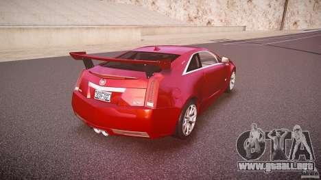 Cadillac CTS-V Coupe para GTA 4 vista superior