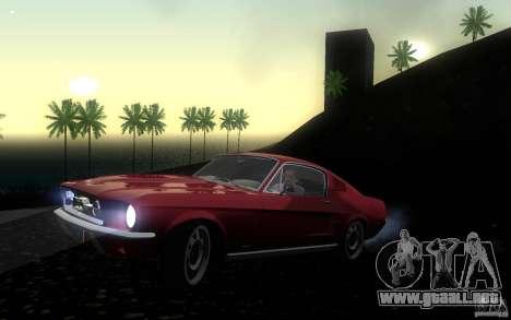 Ford Mustang 1967 American tuning para GTA San Andreas left