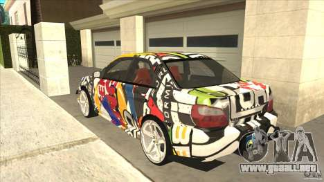 Subaru Impreza 2005 Mission Edition para GTA San Andreas vista posterior izquierda
