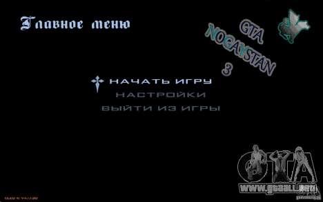 El menú del juego GTA Nogaystan para GTA San Andreas segunda pantalla