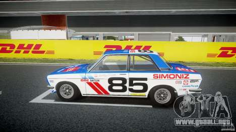 Datsun Bluebird 510 1971 BRE para GTA 4 left
