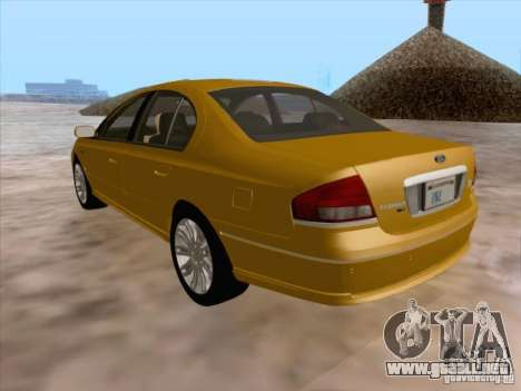 Ford Falcon Fairmont Ghia para vista inferior GTA San Andreas