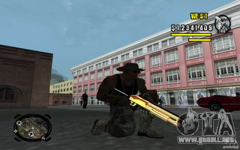 Gold Weapon Pack v 2.1 para GTA San Andreas segunda pantalla