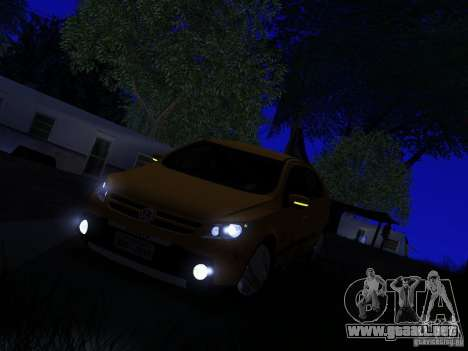 Volkswagen Gol Rallye 2012 para GTA San Andreas vista hacia atrás