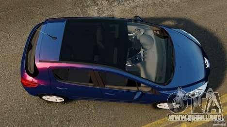Peugeot 308 2007 para GTA 4 visión correcta