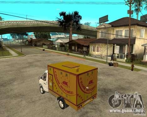 Parrilla de Gaz-3302 gacela para GTA San Andreas left