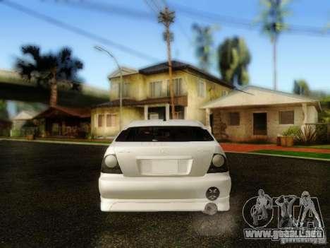 Lexus IS300 Jap style para GTA San Andreas vista hacia atrás