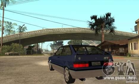 VW Gol GTI 1989 para GTA San Andreas vista posterior izquierda