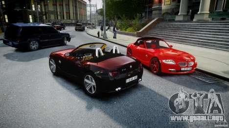 BMW Z4 Roadster 2007 i3.0 Final para GTA 4 vista desde abajo