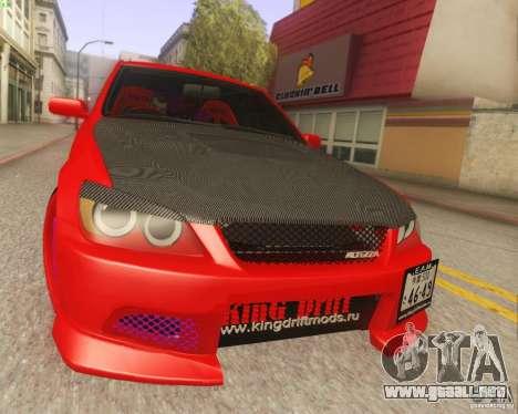 Toyota Altezza Drift Style v4.0 Final para GTA San Andreas vista posterior izquierda