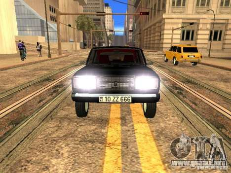 VAZ 2107 ZZ estilo para GTA San Andreas vista hacia atrás