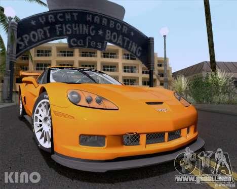 Chevrolet Corvette C6 Z06R GT3 v1.0.1 para la vista superior GTA San Andreas