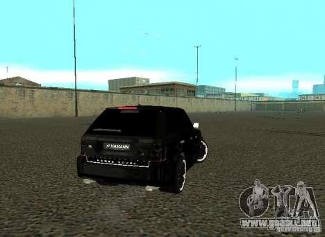 Land Rover Range Rover Sport Hamann para la visión correcta GTA San Andreas
