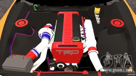 Toyota Supra Tuning para GTA 4 vista lateral