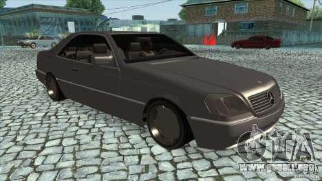 Mercedes Benz 600 Sec para GTA San Andreas vista hacia atrás