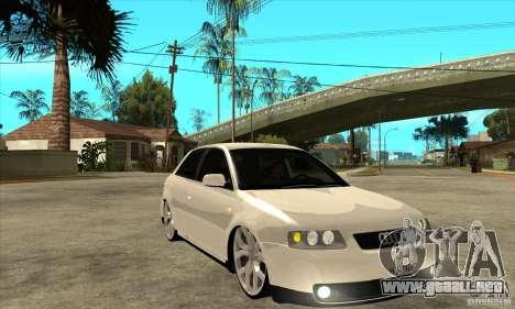 Audi A3 para GTA San Andreas vista hacia atrás