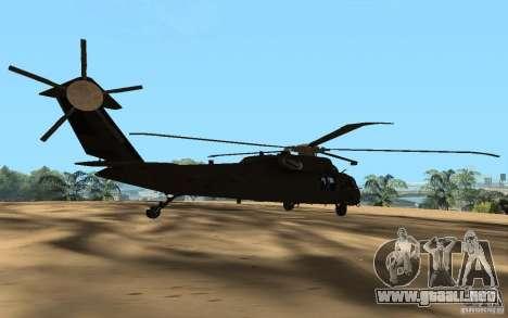 UH-60 Silent Hawk para GTA San Andreas left