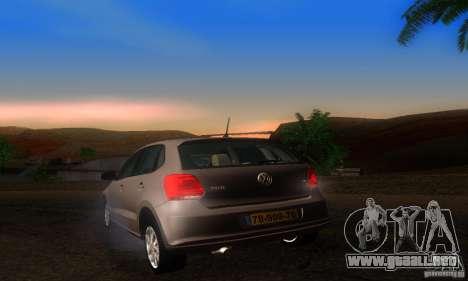 Volkswagen Polo 1.2 TSI para GTA San Andreas vista posterior izquierda