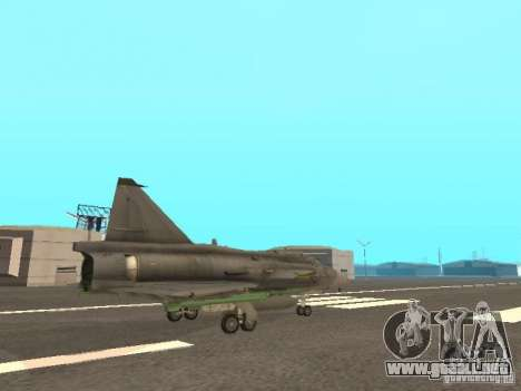 Saab JA-37 Viggen para visión interna GTA San Andreas