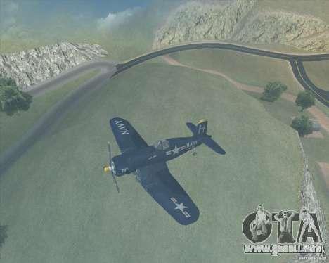 Aereo Corsair F4U1D para GTA San Andreas left