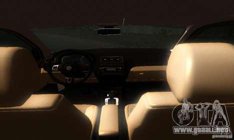 Volkswagen Polo 1.2 TSI para GTA San Andreas vista hacia atrás