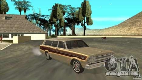 Ford Country Squire 1966 para GTA San Andreas vista hacia atrás