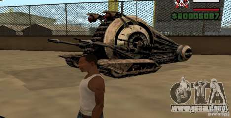 Alliance Tank Droid para GTA San Andreas