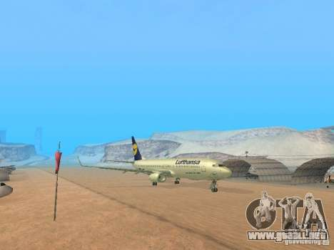 Boeing 737-800 Lufthansa para GTA San Andreas left