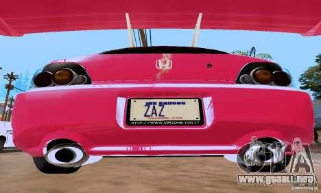 Honda S2000 The Fast and the Furious 2 para la visión correcta GTA San Andreas