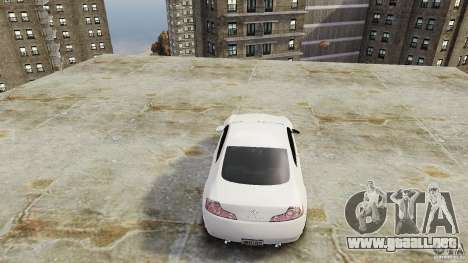 Infiniti G35 para GTA 4 vista hacia atrás