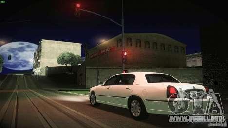 Lincoln Towncar 2010 para la vista superior GTA San Andreas