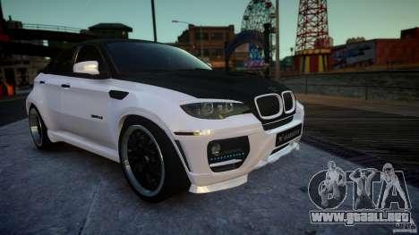 BMW X 6 Hamann para GTA 4 visión correcta