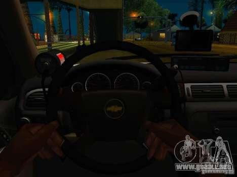 Chevrolet Tahoe Texas Highway Patrol para GTA San Andreas vista hacia atrás