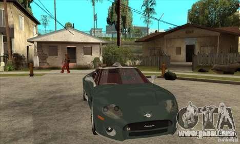 Spyker C8 Laviolete para visión interna GTA San Andreas