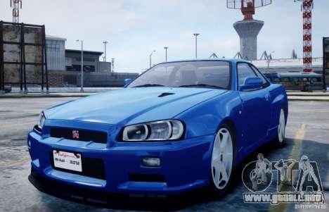 Nissan Skyline GT-R R34 Mspec para GTA 4