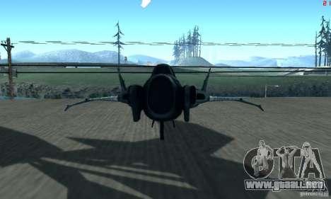 BatWing para GTA San Andreas vista posterior izquierda