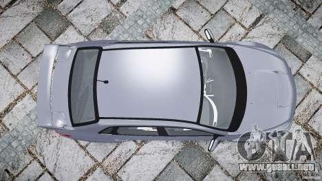Subaru Impreza WRX 2011 para GTA 4 vista superior