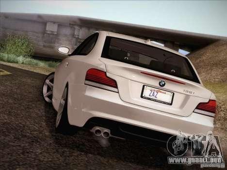 BMW 135i para la vista superior GTA San Andreas